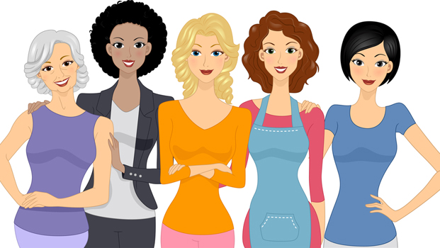 Women clipart Women group Women's of art