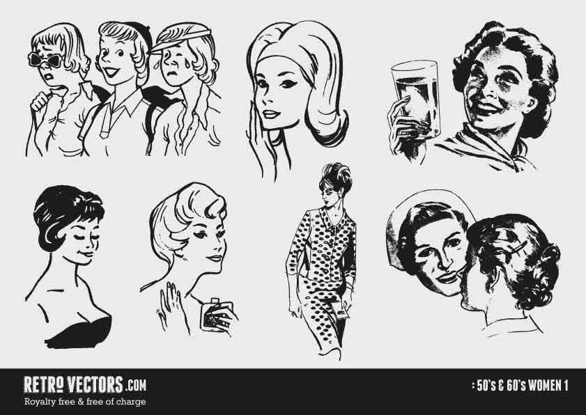 Phone clipart 50s woman Free & 50s/60s Free 841x596