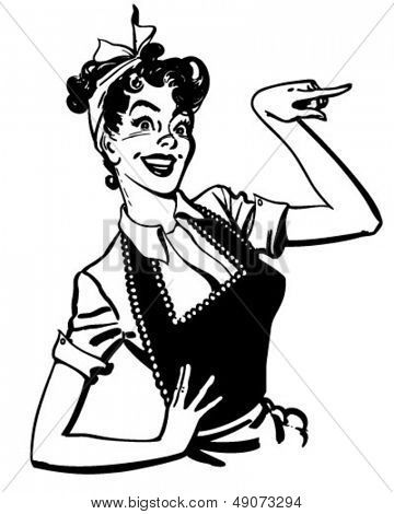 Phone clipart 50s woman Retro Vector styley on Pinterest