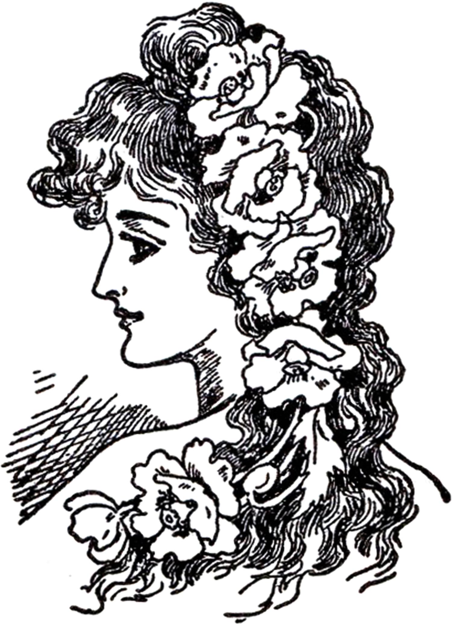Woman clipart art nouveau Lady Lady The Nouveau Images