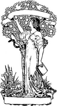 Woman clipart art nouveau Nouveau Nouveau Clipart Art Tree