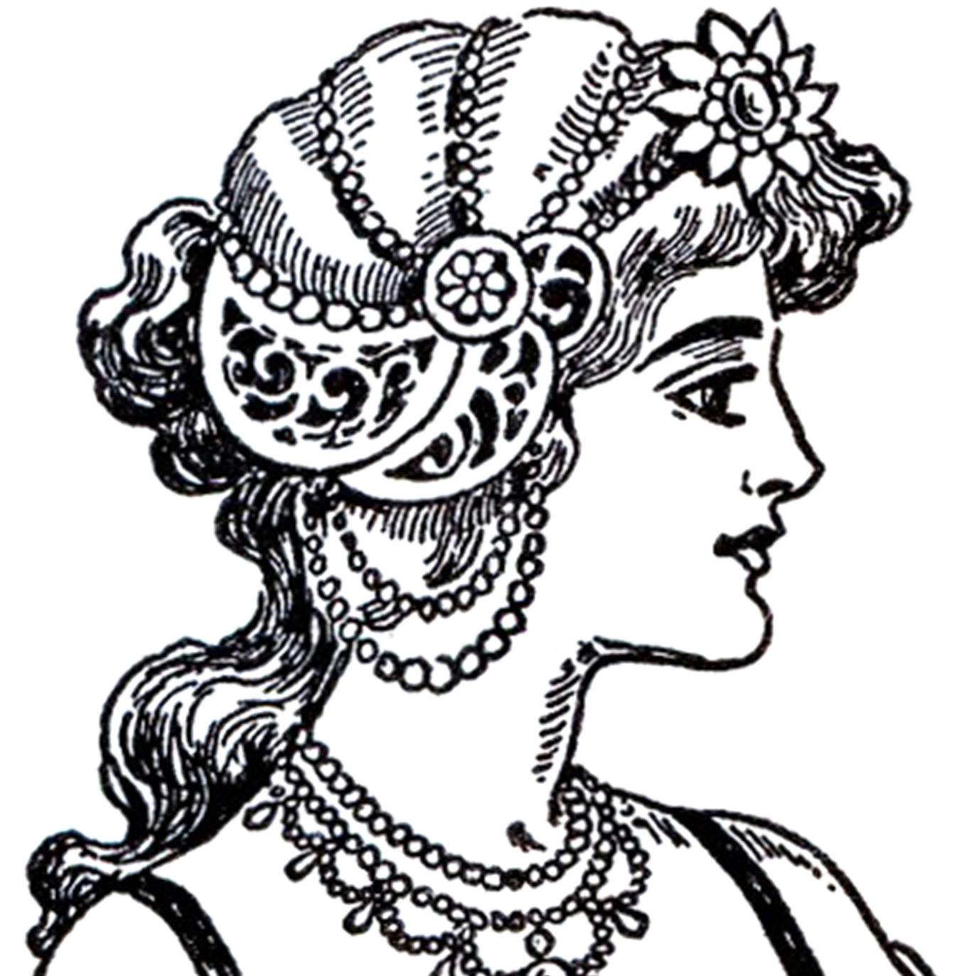 Woman clipart art nouveau Women Lady by Tradition Illustration