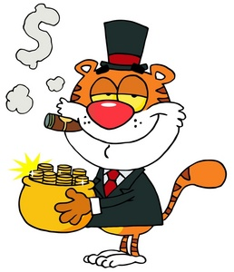 Woman clipart banker Pot Rich gold cat or