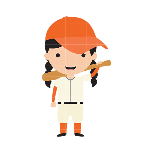 Baseball clipart elephant Baseball Girl Quarter Clipart cliparts