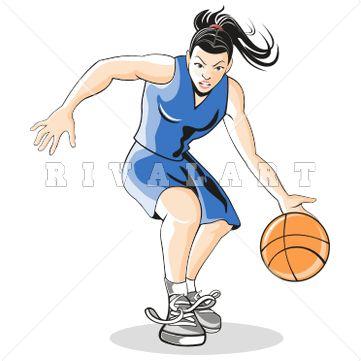 Women clipart basketball player Rivalart Girl Design 58 Image