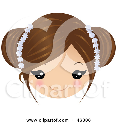 Women clipart brown hair Blue eyes doing with hair