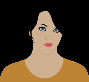 Women clipart brown hair Art art Woman vector Hair