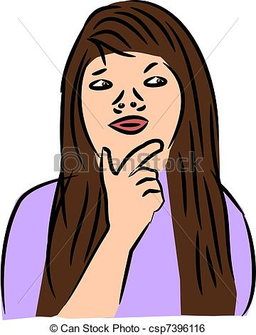 Women clipart brown hair Of Woman with brown woman