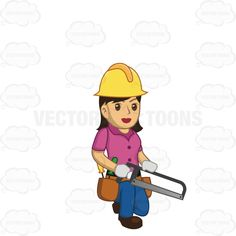 Woman clipart builder A Down Up Worker Female