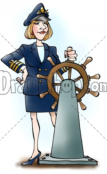 Women clipart captain & Clip DrawShop watermark file