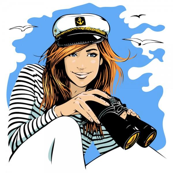 Women clipart captain A of captain: matter female
