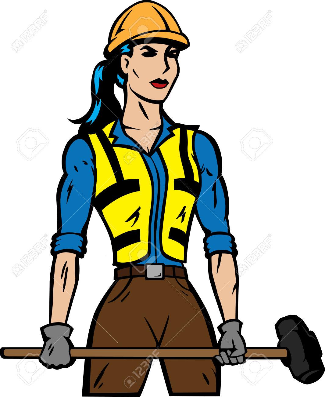 Woman clipart carpenter Clipart Hammer With Hammer Woman