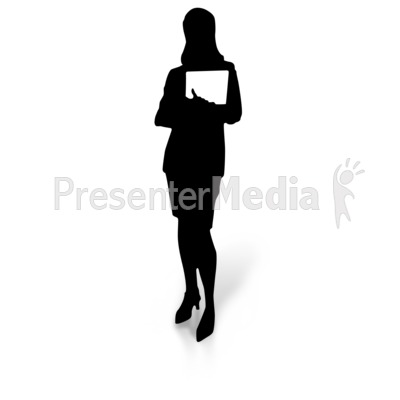 Women clipart ceo Holding Great Silhouette PowerPoint and