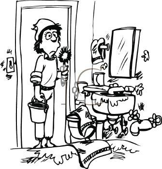 Women clipart cleaning bathroom Bathroom Free Clipart Kids Clipart