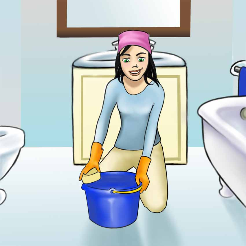 Woman clipart cleaning toilet An Cleaning  Cleaning Bathroom: