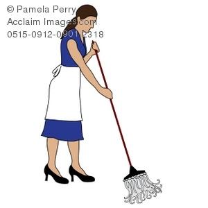 Women clipart cleaning floor #5