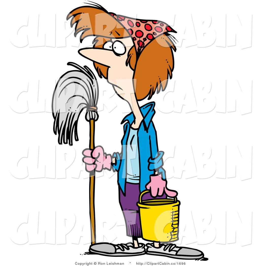 Women clipart cleaning floor #7