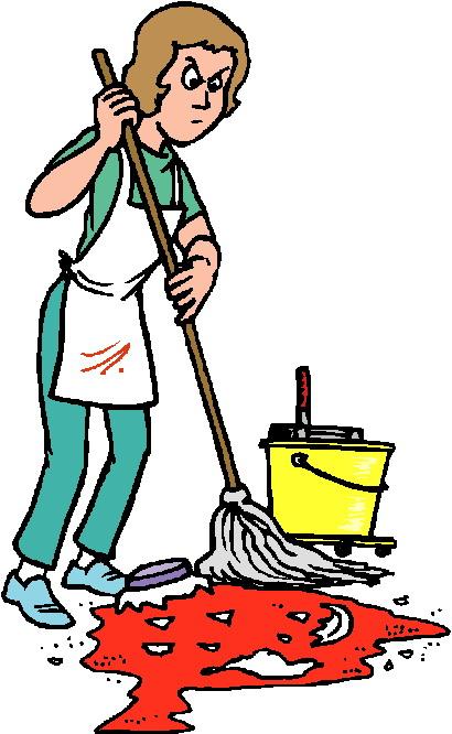 Women clipart cleaning floor #8