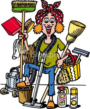 Women clipart cleaning house Dress lady MUNECAS Pin house