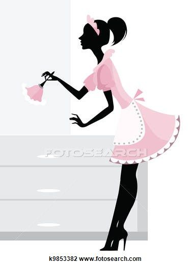 Women clipart cleaning house Cleaning images lady collection clip