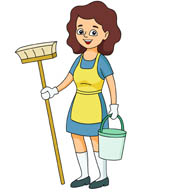 Women clipart cleaning house Results for clipart house bucket