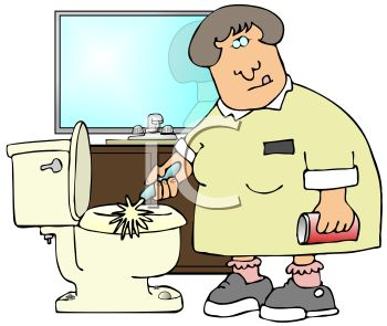 Woman clipart cleaning toilet A a Clipart  Royalty