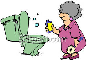 Woman clipart cleaning toilet Free Cleaning Woman a Royalty
