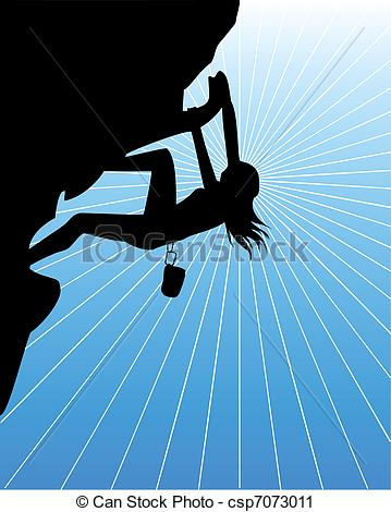 Woman clipart climber Of climbing csp7073011 Art woman