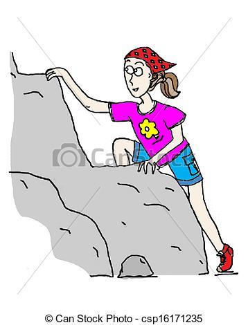 Woman clipart climber Determined Girl a Girl csp16171235