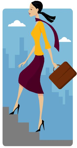 Woman clipart climbing stair On Woman woman stairs Stairs