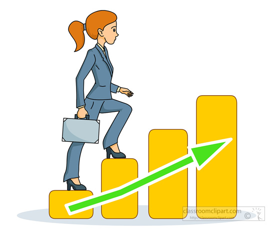 Woman clipart climbing stair Ladder corporate Pictures  Business