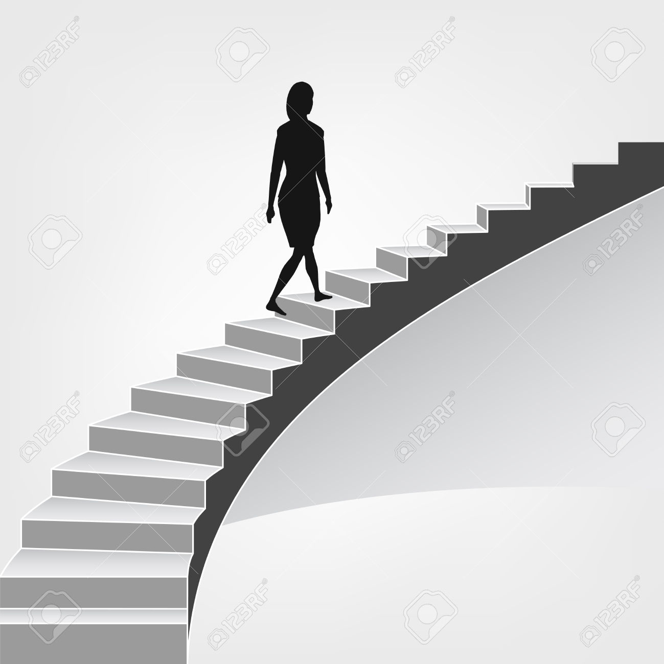 Woman clipart climbing stair Cliparts Illustrations 874 Stock climbing