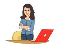 Desk clipart business person Free Size: Kb Laptop Clipart