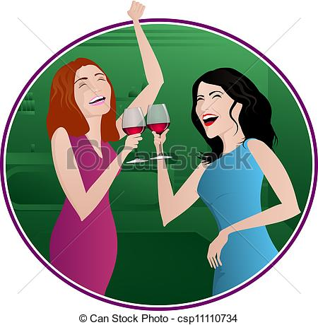 Woman clipart drinking alcohol Clip Clipart cartoon wine art