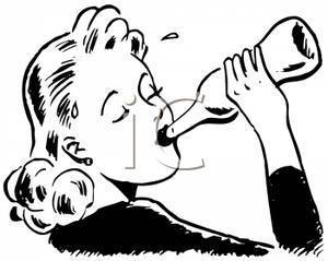 Women clipart drinking alcohol #9