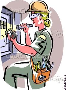 Women clipart electrician Vector electrician Clip electrician art