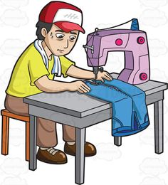 Women clipart factory worker Clipart Worker Factory A Sewing