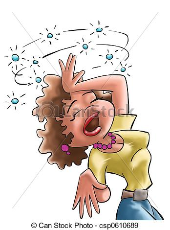 Woman clipart hippy And of Illustrations Fainting someone