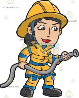 Woman clipart fire fighter Vector Female collection Clipart clipart