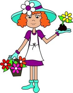 Garden clipart flower cartoon #3