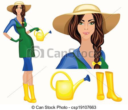 Women clipart gardener #11