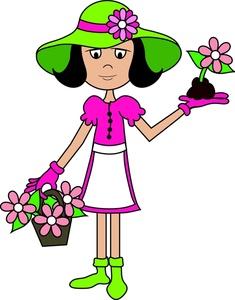 Women clipart gardener #3