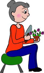 Women clipart gardener #8