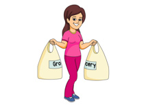 People clipart grocery shopping Clip Clipart Free 25 Size: