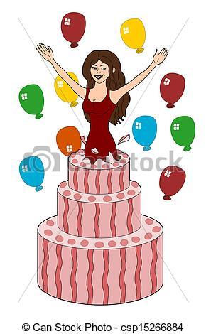 Women clipart happy birthday  of Birthday Young Girl