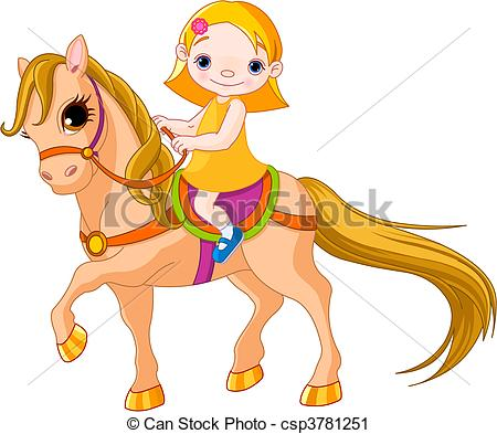 Horse Riding clipart little cowgirl Images of girl horse Clipart