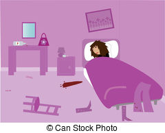 Women clipart hungover Clip Illustrations A  woman