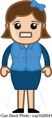 Women clipart irritated #8