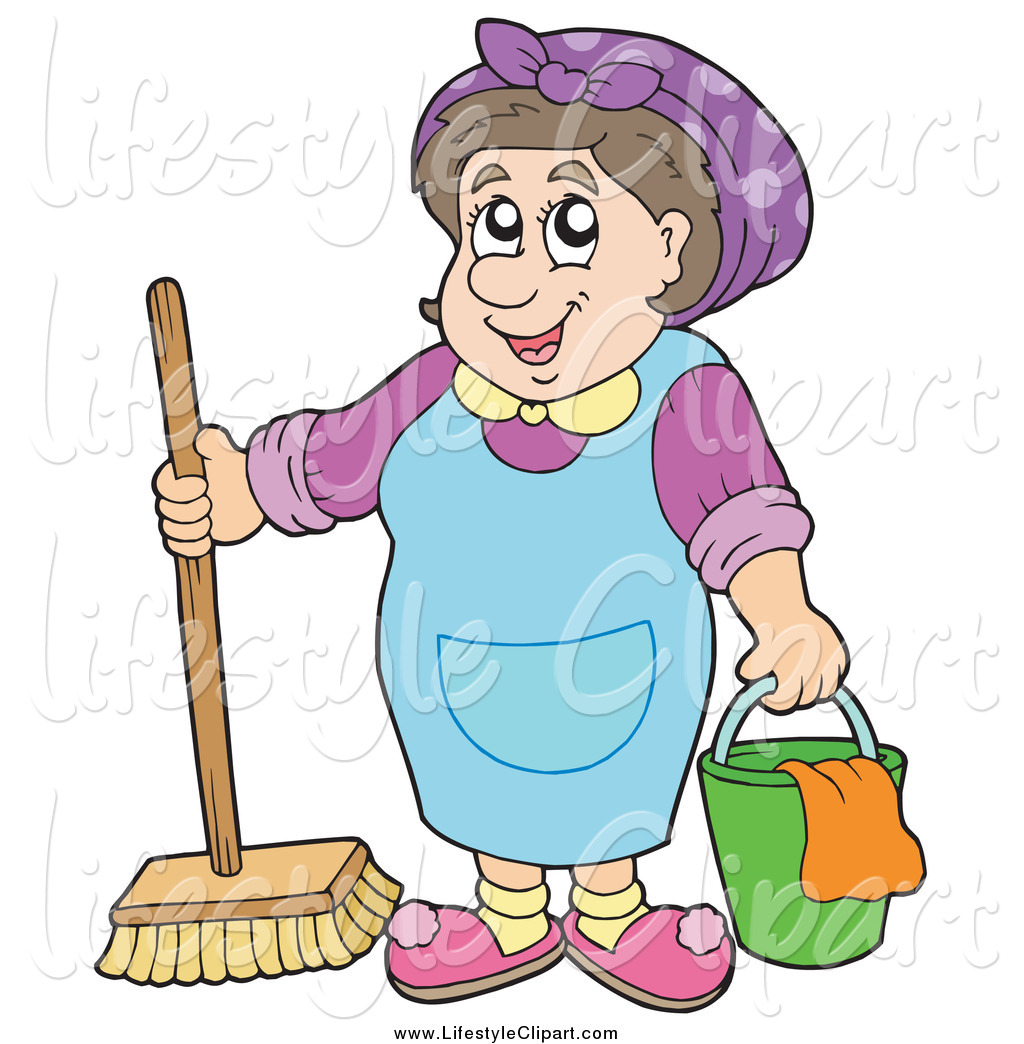 Women clipart janitor Girl sketch Maid by a