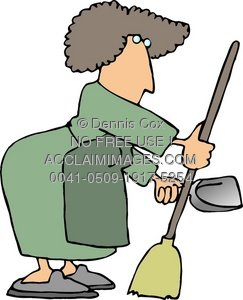 Women clipart janitor Woman Clipart of of Illustration